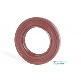 34x44x7mm Viton Rotary Shaft Oil Seal R23/TC Double Lip With Stainless Steel Spring