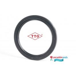 7x26x5.50mm Oil Seal TTO Nitrile Rubber Double Lip R23/Springless