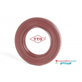 8x22x7mm Oil Seal TTO Viton Rubber Double Lip R23/TC With Stainless Steel Spring