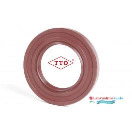 12x24x7mm Oil Seal TTO Viton Rubber Single Lip R21/SC With Garter Spring