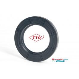 7x13x4mm Oil Seal TTO Nitrile Rubber Single Lip R21/Springless